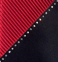 Vitaliano 'Swarovski Crystal & Red Pleats' Tie