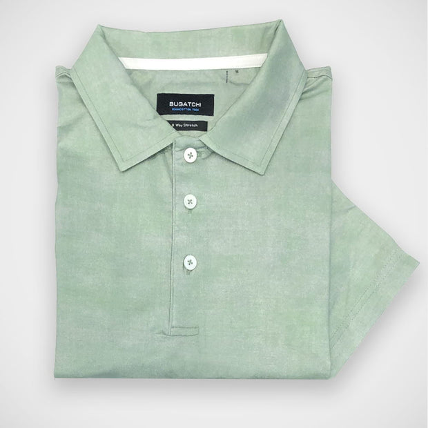 'Green Airbrush' OoohCotton Short Sleeve Polo Shirt