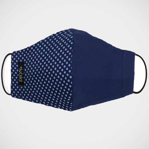 'Half & Half Blue Dot' Non-Medical Mask