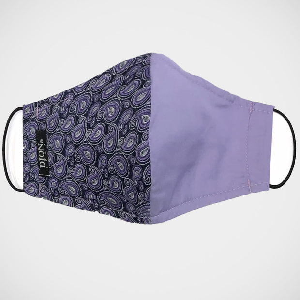 'Half & Half Purple' Non-Medical Mask