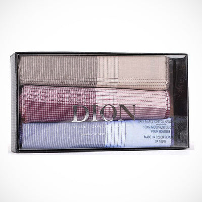 'Coloured Cotton 3-Pack' Handkerchiefs