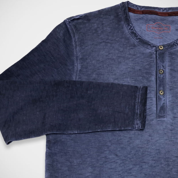 '3-Button Henley - Blue' Shirt