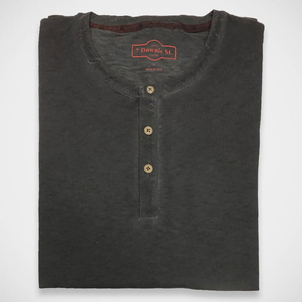 '3-Button Henley - Charcoal' Shirt