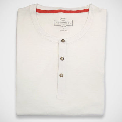 '3-Button Henley - White' Shirt