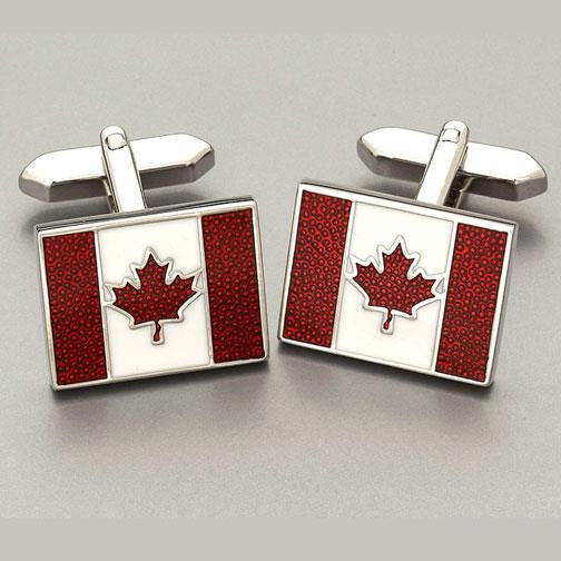 Weber 'Canadian Flag' cufflinks 2