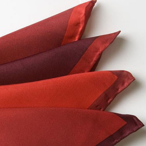 H. Halpern Esq. 'Shades of Red' pocket square folded
