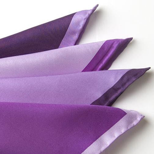 H. Halpern Esq. 'Shades of Purple' Pocket Square folded