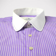 H. Halpern Esq. 'Purple Martin' Dress Shirt buttons