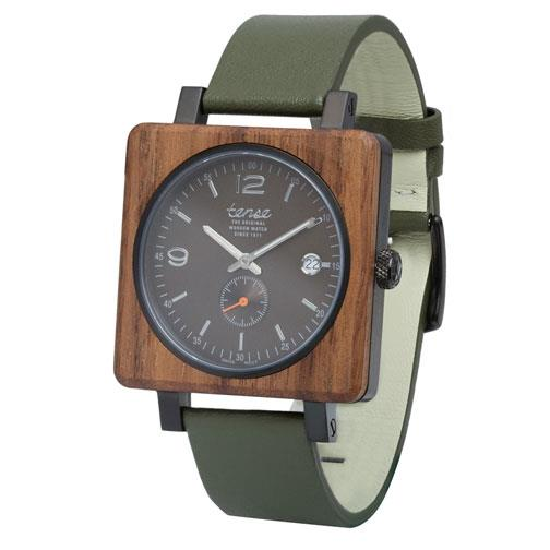 Tense 'Vermont - Green & Brown' Hybrid Watch side