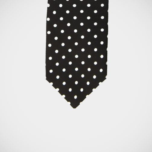 H. Halpern Esq. 'Black with White Dot, White Knot' Tie