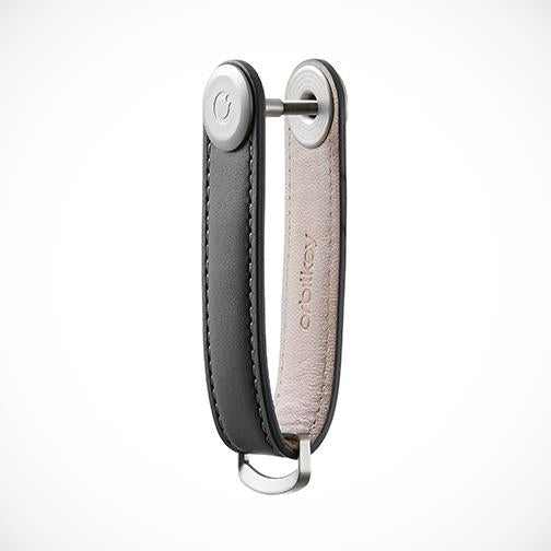 Orbitkey 'Leather-Charcoal with Grey stitching' Keyring