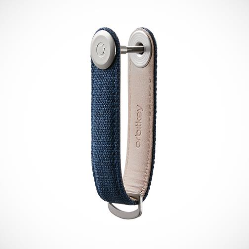 Orbitkey 'Canvas-Navy' Keyring