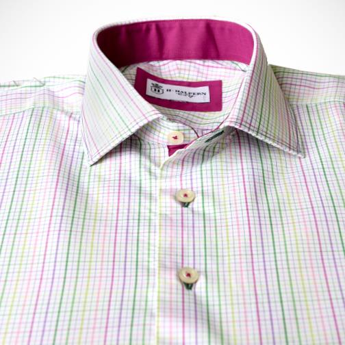 H. Halpern Esq. 'Spring Check' Dress Shirt buttons