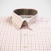 H. Halpern Esq. 'Olive & Pink Check' Button-Down