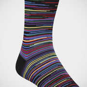 'Broken Stripe on Black' Socks