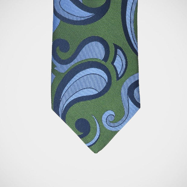 'Bold Paisley on Green' Tie