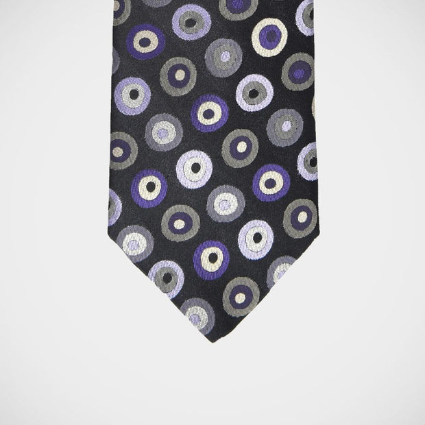 H. Halpern Esq. 'Circles in Purple' Tie