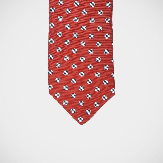H. Halpern Esq. 'Check Dot on Red' Tie