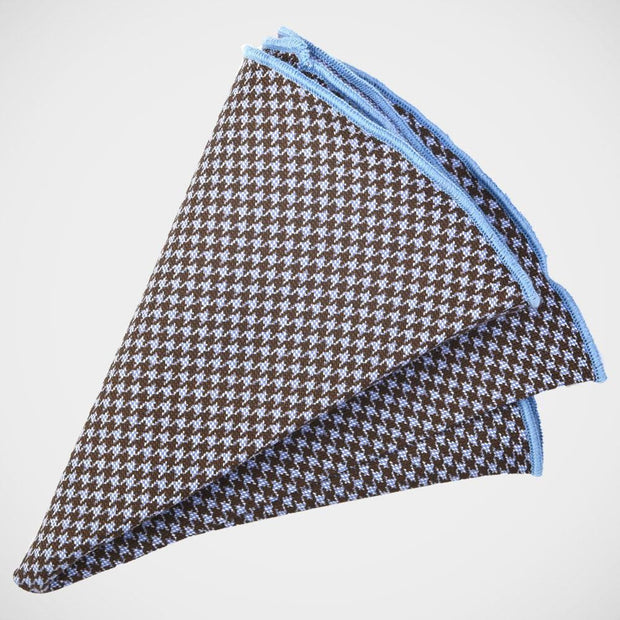 H. Halpern Esq. 'Brown and Blue Reversible' Pocket Sq