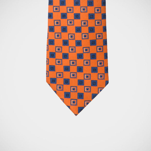 H. Halpern Esq. 'Orange with Blue Neat' Tie