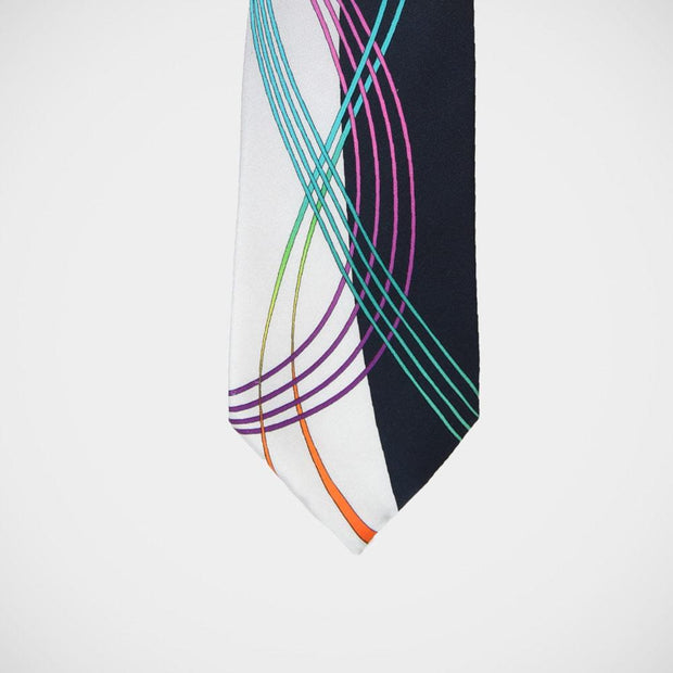 Vitaliano 'Navy & Silver with Swirl' Tie
