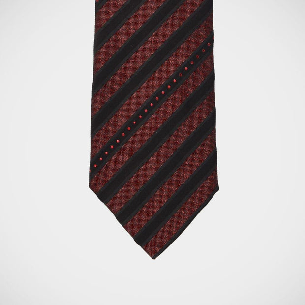 Vitaliano 'Red Stripes with Crystals' Tie