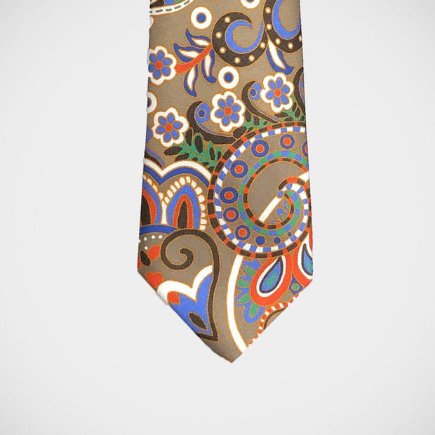 H. Halpern Esq. 'Crazy Paisley on Tan' Tie