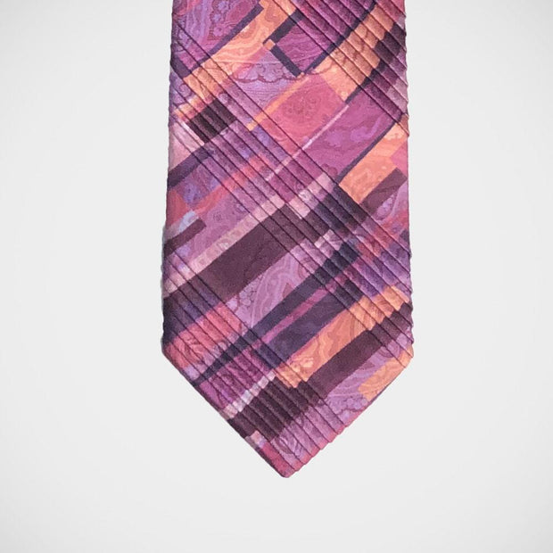 Vitaliano 'Pleated Geometric on Rose' Tie