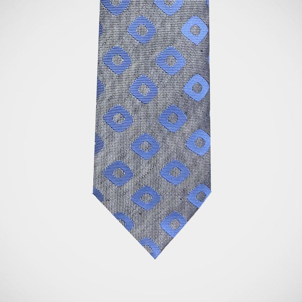 H. Halpern Esq. 'Diamonds in Blue' Tie. Handmade