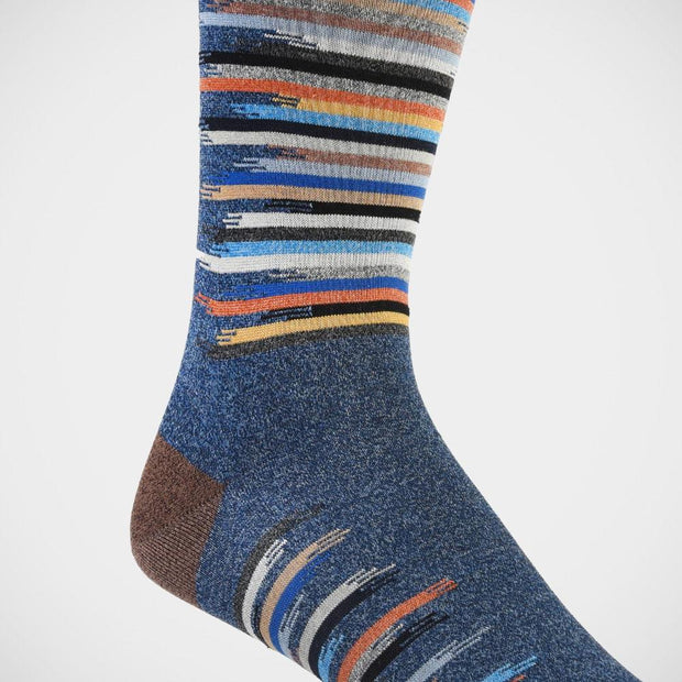 Dion 'Blue with Broken Stripes' Socks