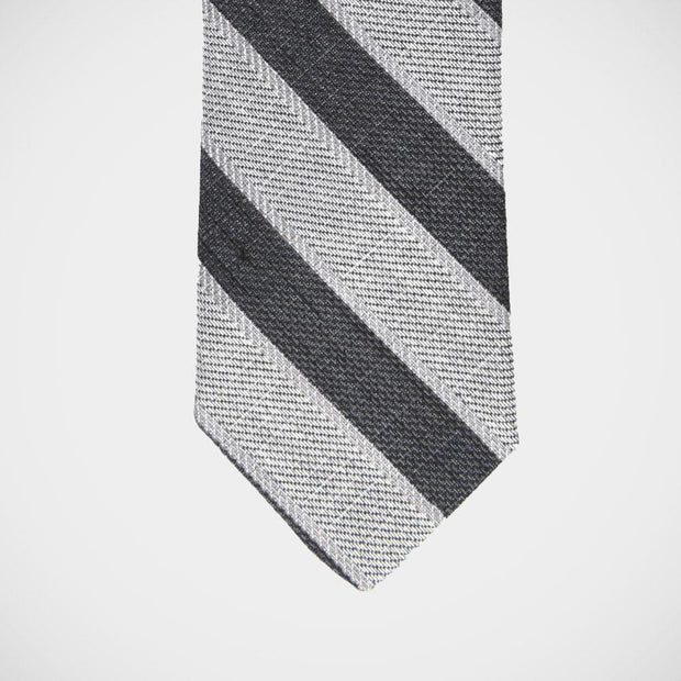 H. Halpern Esq. 'Grey Stripe' Tie