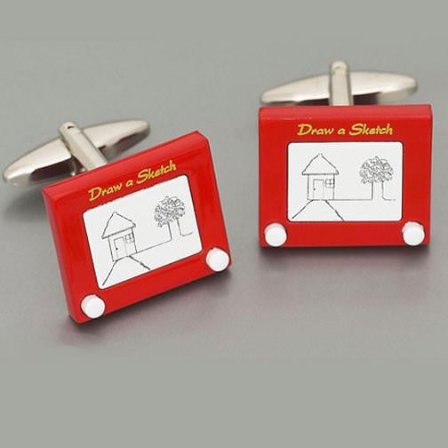 Weber 'Draw-A-Sketch' Cufflinks2