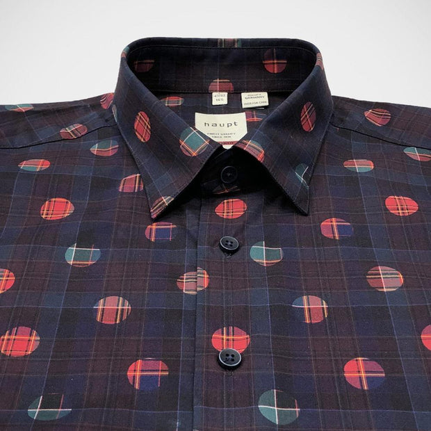 Haupt 'Plaid & Dots' Sport Shirt