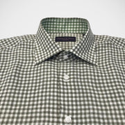 Seaward & Stearn London 'Green Ginham' Linen Sport Shirt
