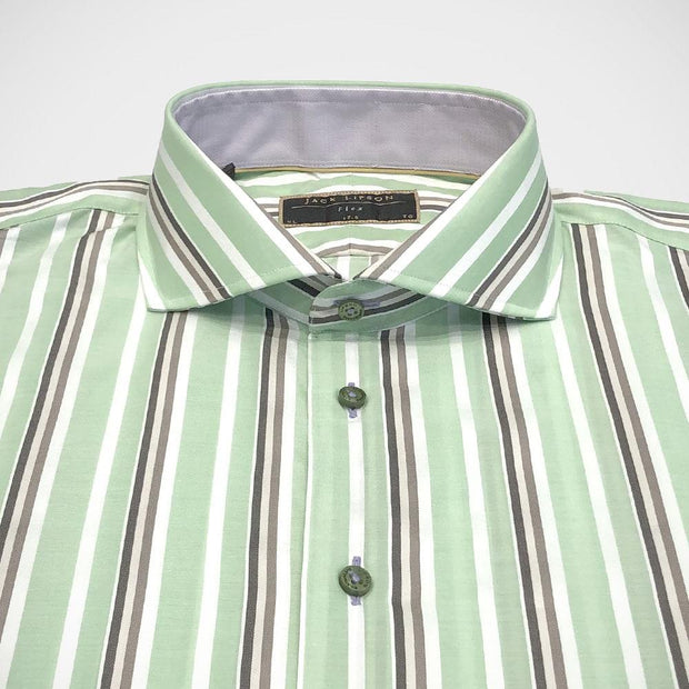 Lipson 'Green Stripe' Sport Shirt.