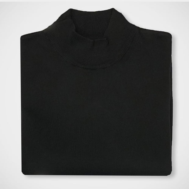 'Mock Turtle - Black' Sweater