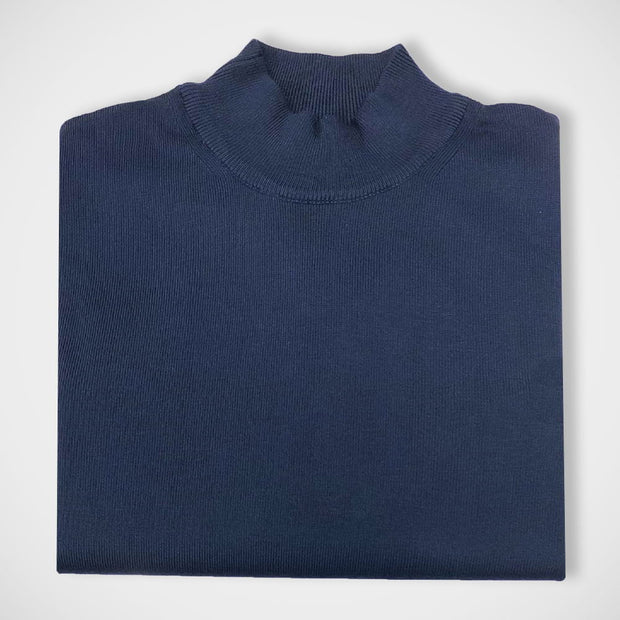 'Mock Turtle - Navy' Sweater