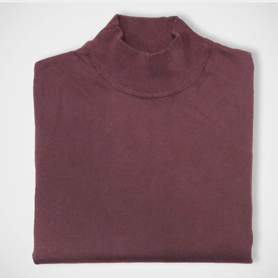 'Mock Turtle - Burgundy' Sweater