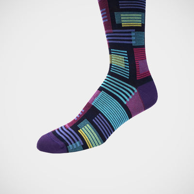 'Modern Abstract on Purple' Socks