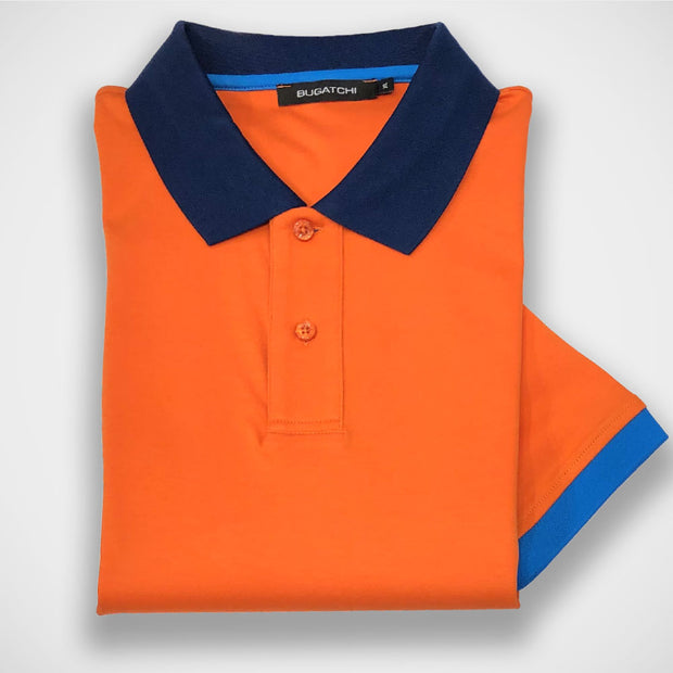 'Orange Polo' Short Sleeved Knit Sport Shirt