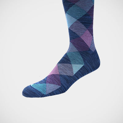 'Purple and Turquoise Plaid' Socks