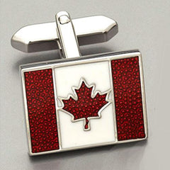 Weber 'Canadian Flag' cufflinks