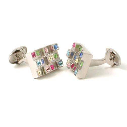 Ian Flaherty 'Crystal Manhattan' cufflinks