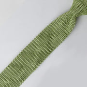 Dion 'Lime Green Knit' Tie. 100% Silk knit. Made in Italy.