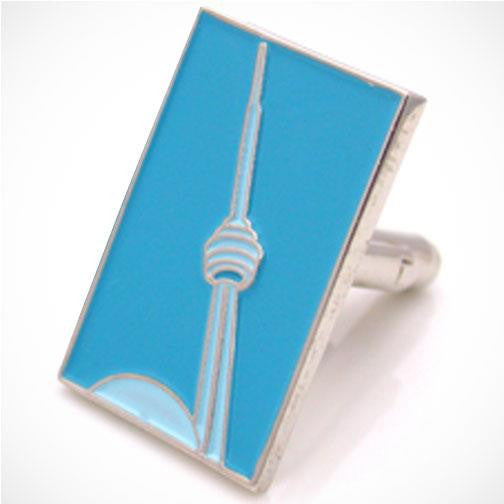 H. Halpern Esq. 'CN Tower-blue' Canadian Cufflinks