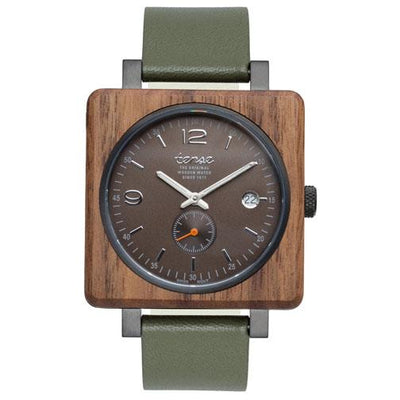 Tense 'Vermont - Green & Brown' Hybrid Watch