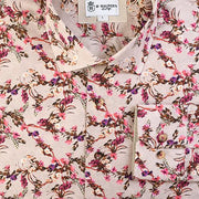 'Fuchsia Floral on Tan' Shirt