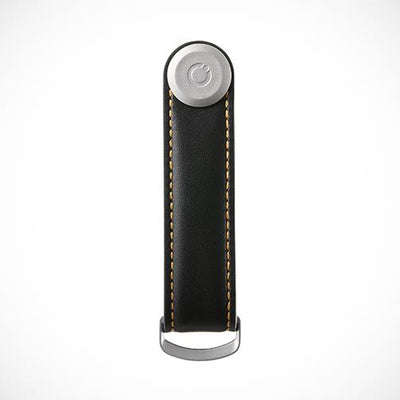 Orbitkey 'Leather-Black with Tan stitching' Keyring