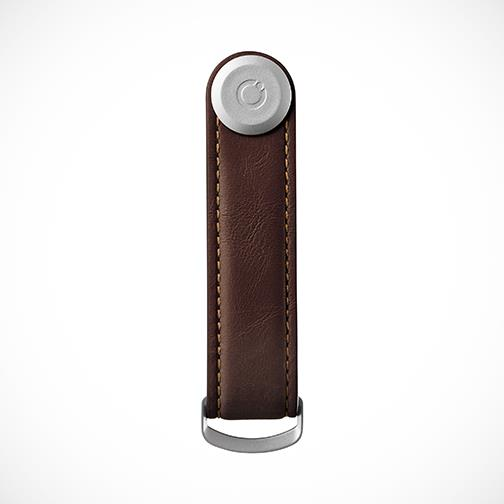 Orbitkey 'Leather-Espresso with Brown stitching' Keyring