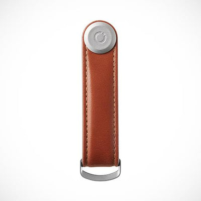 Orbitkey 'Leather-Cognac with Tan stitching' Keyring